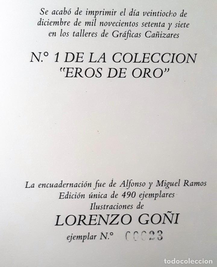 Libros de segunda mano: EL JARDÍN DE VENUS (SAMANIEGO + LORENZO GOÑI ) EDICIÓN LUJO HELIODORO 1977. ED. NUMERADA. SIN USAR - Foto 5 - 270883838