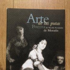 Libros de segunda mano: ARTE DE LAS PUTAS FERNANDEZ DE MORATÍN. EDICION 200 EJEMP AGUAFUERTE ORIGINAL MIQUEL VILA ERÓTICA. Lote 286160883