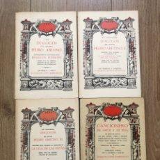 Livros em segunda mão: PEDRO ARETINO 3 VOLUMNES Y CANCIONERO DE AMOR Y RISA FACSIMILES AKAL JOAQUIN LOPEZ BARBADILLO. Lote 286163613