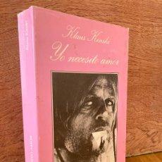 Libros de segunda mano: ¡¡LIQUIDACION!! - YO NECESITO AMOR - KLAUS KINSKI - TUSQUETS / LA SONRISA VERTICAL - MUY ESCASO- GCH. Lote 297027618