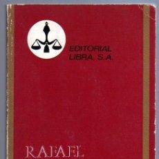 Libros de segunda mano: RAFAEL (M. A. DE LAMARTINE). EDITORIAL LIBRA 1971.. Lote 13958827