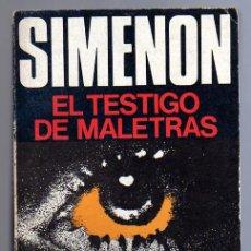 Libros de segunda mano: EL TESTIGO DE MALÉTRAS (GEORGES SIMENON). 1ª EDICIÓN. LUIS DE CARALT EDITOR 1975.. Lote 13959056