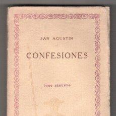 Libros de segunda mano: LAS CIEN MEJORES OBRAS DE LA LITERATURA UNIVERSAL VOL. 16. CONFESIONES DE SAN AGUSTIN TOMO II. Lote 17618073