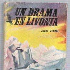 Libros de segunda mano: ENCICLOPEDIA PULGA Nº 80. UN DRAMA EN LIVONIA POR JULIO VERNE. (384 PÁGINAS) EDIT. CLIPER.. Lote 19582663