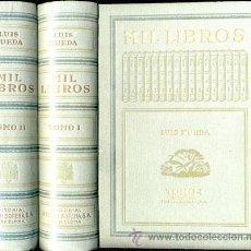 Libros de segunda mano: MIL LIBROS – 2 TOMOS - AÑO 1943. Lote 26737300