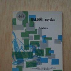 Libros de segunda mano: GALDÓS: NOVELAS. ANTOLOGÍA - PRIMERA BIBLIOTECA Nº 48 - COCULSA. Lote 24253607