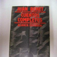 Libros de segunda mano: CUENTOS COMPLETOS / TOMO 1 / JUAN BENET / ALIANZA EDITORIAL 1981. Lote 26372907