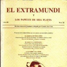 Libros de segunda mano: EL EXTRAMUNDI Y LOS PAPELES DE IRA FLAVIA, NUMERO XI. AÑO III. FUNDACIÓN CAMILO JOSÉ CELA. 1997.. Lote 26611896
