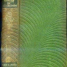 Libros de segunda mano: OBRAS DE A. J. CRONIN -PLENA PIEL. Lote 26679297