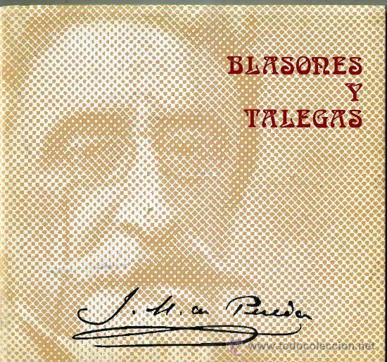J. M. DE PEREDA : BLASONES Y TALEGAS -EDICIÓN ILUSTRADA (Libros de Segunda Mano (posteriores a 1936) - Literatura - Narrativa - Otros)