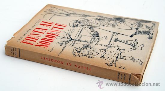 Libros de segunda mano: Fiesta al noroeste. Ana María Matute. 1ª edición. 1953. Premio Café Gijón 1952. - Foto 2 - 28143485