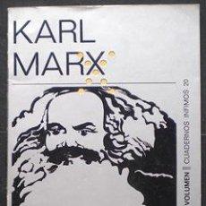 Libros de segunda mano: ESCORPIÓN Y FÉLIX. NOVELA HUMORÍSTICA - KARL MARX - TUSQUETS (CUADERNOS ÍNFIMOS) 1971. Lote 28494943