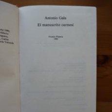 Libros de segunda mano: EL MANUSCRITO CARMESÍ. ANTONIO GALA. PREMIO PLANETA 1990. Lote 32508510