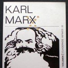 Libros de segunda mano: ESCORPIÓN Y FÉLIX. NOVELA HUMORÍSTICA - KARL MARX - TUSQUETS (COL. CUADERNOS ÍNFIMOS) 1971. Lote 29012120