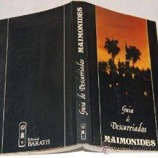 Libros de segunda mano: GUÍA DE DESCARRIADOS .MAIMONIDES. RM34105. Lote 29022656