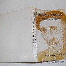 Libros de segunda mano: HOMENAXE A CABANILLAS NO CENTENARIO DO SEU NACEMENTO. VV.AA. RM54846. Lote 29093198