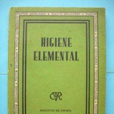 Libros de segunda mano: HIGIENE ELEMENTAL. Lote 29209745