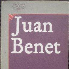 Libros de segunda mano: HERRUMBROSAS LANZAS LIBROS I-VI - JUAN BENET (ALFAGUARA, 1983). Lote 30356937