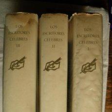 Libros de segunda mano: LOS ESCRITORES CELEBRES. GRAN OBRA. COMPLETA.. Lote 31080265