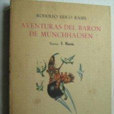 Libros de segunda mano: AVENTURAS DEL BARON DE MUNCHHAUSEN. RASPE, RODOLFO ERICO. 1967. Lote 32730214