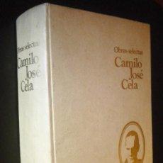 Libros de segunda mano: OBRAS SELECTAS. CAMILO JOSÉ CELA. 1971, TAMAÑO GRANDE.. Lote 34221605
