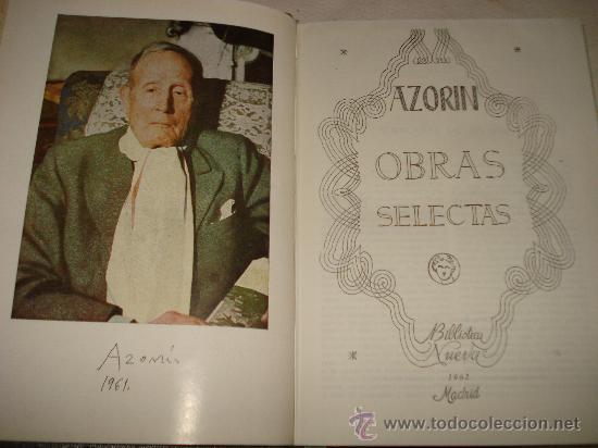 Libros de segunda mano: OBRAS SELECTAS de AZORIN ,Editorial Biblioteca Nueva , Madrid 1962 . - Foto 3 - 34533917