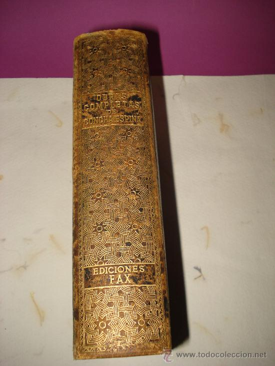 Libros de segunda mano: OBRAS COMPLETAS de CONCHA ESPINA de Ediciones FAX 1ª Edición de 1944. - Foto 3 - 34534217