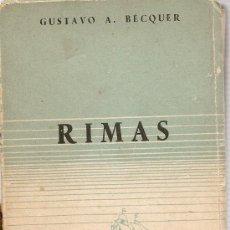 Libros de segunda mano: RIMAS DE GUSTAVO ADOLFO BÉCQUER (AFRODISIO AGUADO). Lote 35435042
