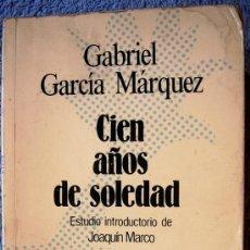 Libros de segunda mano: CIEN AÑOS DE SOLEDAD. GABRIEL GARCIA MARQUEZ. INTROD. JOAQUIN MARCO. SELEC. AUSTRAL, 1982.. Lote 194987197