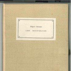 Libros de segunda mano: LOS MISTERIOS -MIGUEL SERRANO (CHILE, 1917-2009)-ILUSTRADO POR JULIO ESCÁMEZ.NUEVA DELHI-INDIA,1960.. Lote 36060522