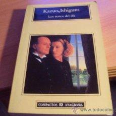 Libros de segunda mano: LOS RESTOS DEL DIA (KAZUO ISHIGURO) (LB35). Lote 105870144