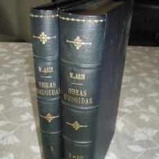 Libros de segunda mano: ASÍN PALACIOS, M.: OBRAS ESCOGIDAS, PUBLICADAS EN TRES PARTES Y DOS VOLÚMENES.. Lote 36613427