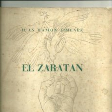 Libros de segunda mano: 1839.-JUAN RAMON JIMENEZ. EL ZARATAN. ED. CONMEMORATIVA. ILUST. DE GREGORIO PRIETO. Lote 36682550
