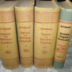 Libros de segunda mano: VALBUENA (PRAT Y BRIONES): HISTORIA DE LA LITERATURA ESPAÑOLA (3 VOL.)+LITERATURA HISPANOAMERICANA (. Lote 36689371