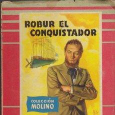 Libros de segunda mano: COLECCIÓN MOLINO Nº 30. ROBUR EL CONQUISTADOR POR J. VERNE. MOLINO 1955.. Lote 36926281