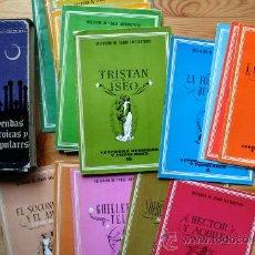 Libros de segunda mano: LEYENDAS HEROICAS Y POPULARES. 20 LIBRITOS CON LAS LEYENDAS. Lote 37471662