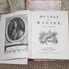 Libros de segunda mano: 3379- OEUVRES DE RACINE. EDICION FACSIMIL DE LA DE 1760. EDIT. MICHEL DE L'ORMERAIRE. 1971. 2 TOMOS.. Lote 37597325