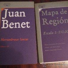 Libros de segunda mano: HERRUMBROSAS LANZAS + MAPA DE REGIÓN.- JUAN BENET.- 1983. Lote 38571993