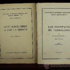 Libros de segunda mano: 3702- INSTITUTO DE ESTUDIOS TARRACONENSES. RAMON BERENGUER IV. 22 TITULOS. VER DESCRIPCION. . Lote 38984274