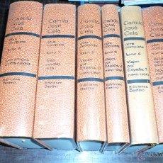 Libros de segunda mano: CAMILO JOSE CELA, OBRA COMPLETA, ED. DESTINO, 1961: TOMOS 3.4.5.6.7 Y 8. Lote 39473409