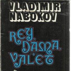 Libros de segunda mano: REY, DAMA, VALET. VLADIMIR NABOKOV. CARALT. BARCELONA. 1978. Lote 39631259