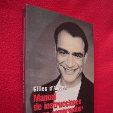 Libros de segunda mano: MANUAL DE INSTRUCCIONES PARA COMPRENDER A LOS HOMBRES - GUILLES D'AMBRA. Lote 39770090
