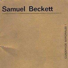 Libros de segunda mano: BECKETT, SAMUEL - RELATOS - TUSQUETS EDITOR (PRIMERA EDICIÓN) - 1970. Lote 40829332
