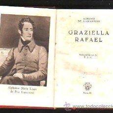 Libros de segunda mano: CRISOL. Nº 60. GRAZIELLA RAFAEL. ALPHONSE DE LAMARTINE. AGUILAR. HOJA DE CORTESIA. 1948. Lote 40872107
