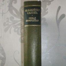 Libros de segunda mano: CASONA, ALEJANDRO: OBRAS COMPLETAS. TOMO I. AGUILAR. PERFECTO EJEMPLAR. Lote 40878235
