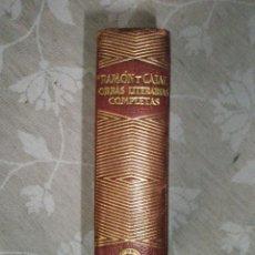 Libros de segunda mano: RAMON Y CAJAL, S.: OBRAS LITERARIAS COMPLETAS. AGUILAR-JOYA. 1950. Lote 40934168