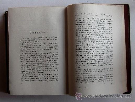 Libros de segunda mano: OBRAS COMPLETAS DE GABRIEL Y GALAN - 2 TOMOS AÑO 1941 - Foto 7 - 40934794