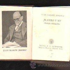 Libros de segunda mano: CRISOL. Nº 07. PLATERO Y YO. JUAN RAMON JIMENEZ. AGUILAR. 1953. 6 X 8CM. ILUSTRADO. Lote 40961811