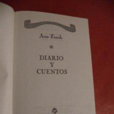 Libros de segunda mano: DIARIOS Y CUENTOS. ANA FRANK. PLAZA & JANES EDITORES, S. A. EDITORES. BARCELONA. 1975.. Lote 41520868