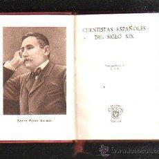 Libros de segunda mano: CRISOL. Nº 105. CUENTISTAS ESPAÑOLES DEL SIGLO XIX. BENITO PEREZ GALDOS. 1945. AGUILAR. Lote 41659610